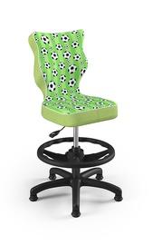 Детский стул Entelo Petit ST29, черный/зеленый, 370x350x950 мм
