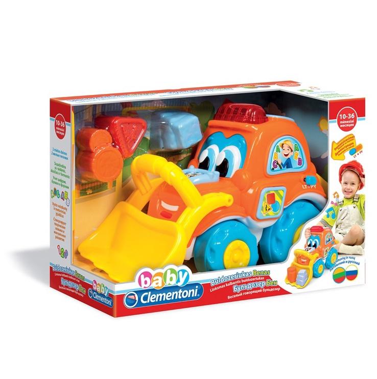 Lavinamasis žaislas, Clementoni, Buldozeriukas Benas