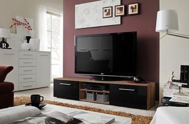 TV-laud ASM Bono II Plum/Black Gloss, 1800x450x350 mm