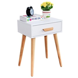 Ночной столик GoodHome Bedside White/Oak
