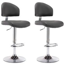 Барный стул VLX Faux Leather 249659, серый, 2 шт.