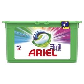 Skalbimo kapsulės Ariel Color 3in1, 35 vnt.