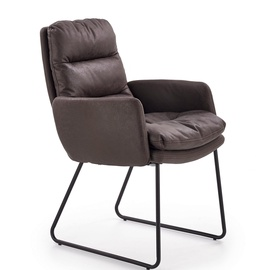 Atzveltnes krēsls Halmar Fassi Dark Grey, 59x64x91 cm
