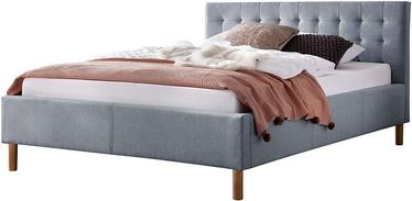 Кровать Meise Möbel Malin, синий, 217x134 см