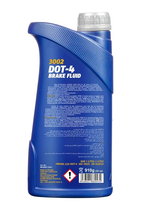 Тормозная жидкость Mannol Brake Fluid DOT-4 3002 1L