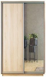 Garant-NV Wardrobe w/ 2 Sliding Doors & 2 Drawers 130x240x60cm Sonoma Oak