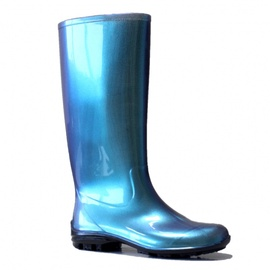 SN Womens Long Rubber Boots 100P 37 Blue