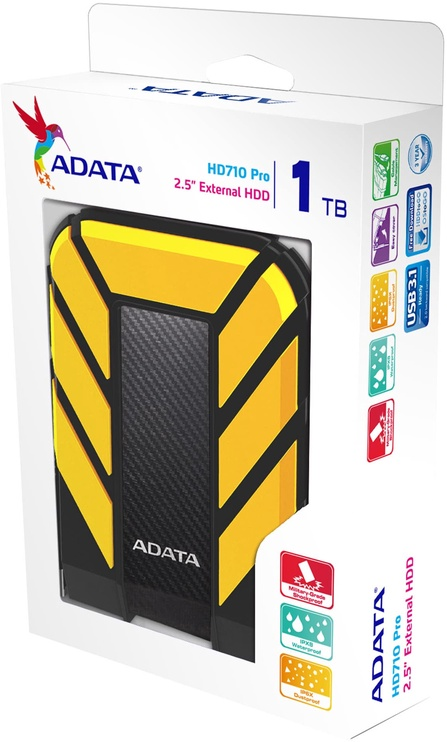 Adata HD710 1TB USB 3.1 Yellow AHD710P-1TU31-CYL