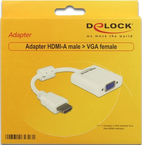 Delock Adapter HDMI to VGA White