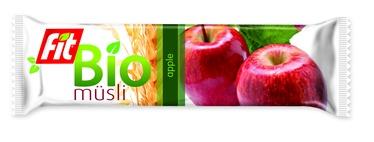 Javainių batonėlis FIT BIO Musli Apple, 30 g