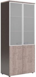 Skyland Xten XHC 85.7 Office Cabinet 85.6x195.5x43.2cm Sonoma Oak/Dark Wood