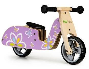 Balansinis dviratis EcoToys Wooden, rožinis
