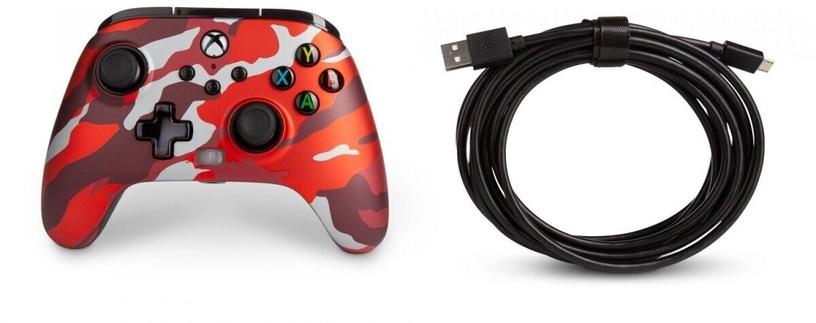 Пульт управления PowerA Enhanced Controller Xbox Series X/S Red Camo
