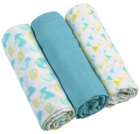Mähkimistekk BabyOno Muslin Super Soft, 700 mm x 700 mm, 3 tk