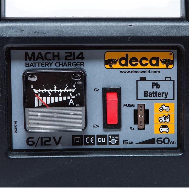 Зарядное устройство Deca Mach 214, 6 - 12 В, 2.5 а