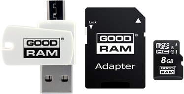 Goodram M1A4 All in One microSDXC 8GB Class 10 UHS-I C U1 + Adapter microSD-SD + OTG Card Reader