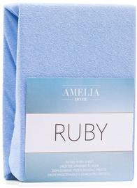 Palags AmeliaHome Ruby, zila, 200x200 cm, ar gumiju