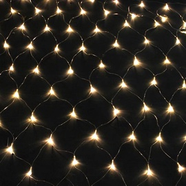 Girlianda tinklas, 240 LED, šilta balta, 2.4 x 1.2 m