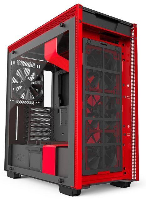 NZXT Midi Tower Black + Red