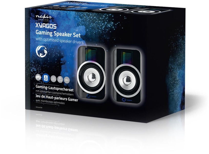 Nedis Gaming Speakers 2.0 GSPR20020BK