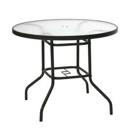 Home4you Dublin Garden Table 90cm Dark Brown