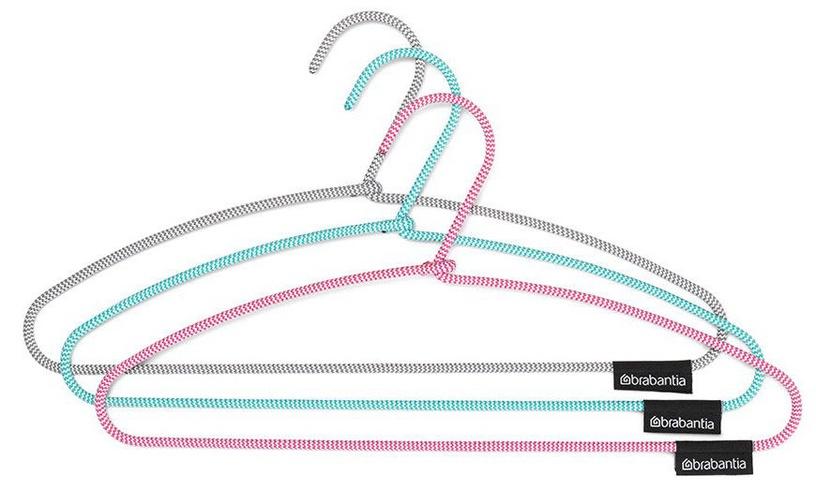 Вешалка для одежды Brabantia 105548, зеленый/розовый/серый, 3 шт.