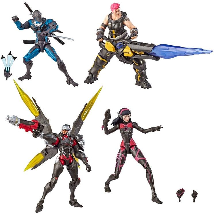 Žaislinė figūrėlė Hasbro Ultimates 4-Pack Genji/Zarya/Pharah And D.Va Action