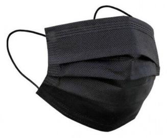 Защита для лица Inca Farma IIR Adult Surgical Mask Black 5pcs