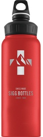Sigg Water Bottle Mountain Wide Mouth Red 1L