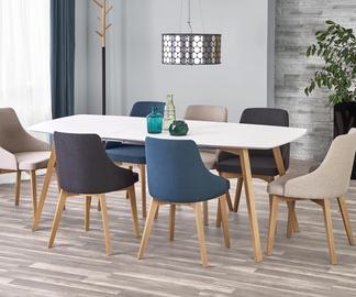 Обеденный стол Halmar Kajetan, белый/дубовый, 1500 - 2000x850x760мм