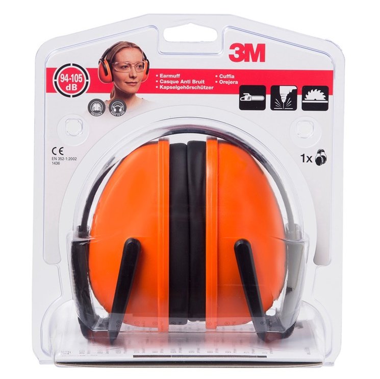 Apsauginės ausinės 3M, oranžinės