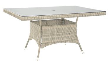 Home4you Wicker Table 150x100x74cm Beige