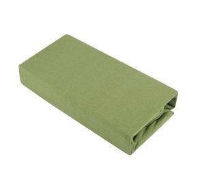 Paklodė Domoletti Jersey green, su guma, trikotažinė, 200 x 160 cm