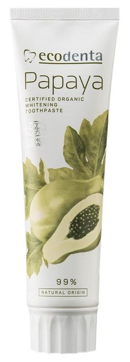 Dantų pasta Ecodenta Cosmos Organic Whitening 100ml Papaya Extract