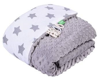 Lulando Minky Baby Blanket Grey/White With Stars 100x140cm