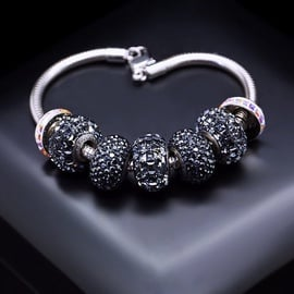 Diamond Sky Bracelet Becharmed Pavé Mini VIII With Swarovski Beads