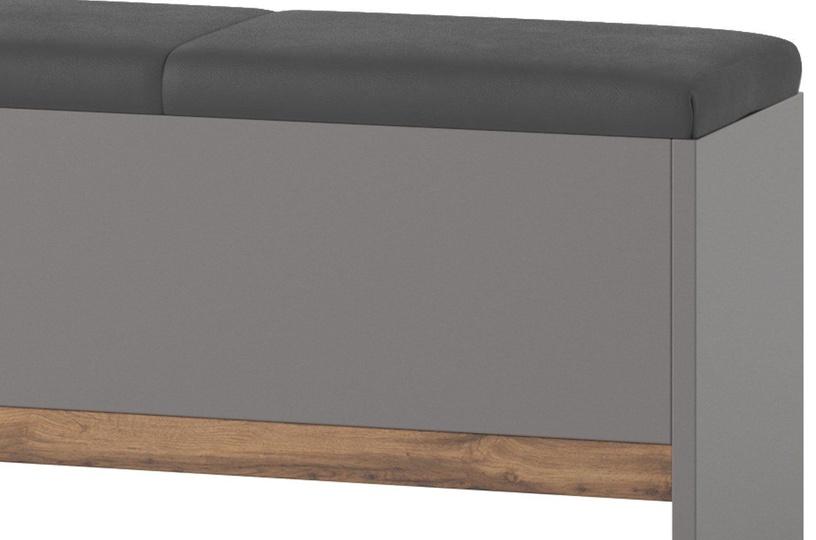 Suoliukas Szynaka Meble Livorno 65 Grey, 1650x350x470 mm