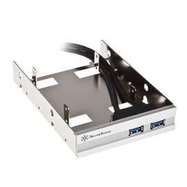 "Silverstone FP36-E 3.5"" Bay Front USB 3.0 Panel Silver"
