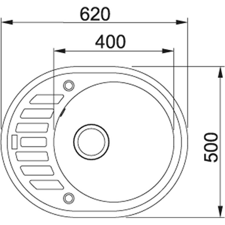 Franke Ronda ROG 611-62 Cashmere 620x500mm