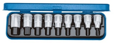 "Gedore Screwdriver bit socket set 1/2"" 9pcs 6156250"