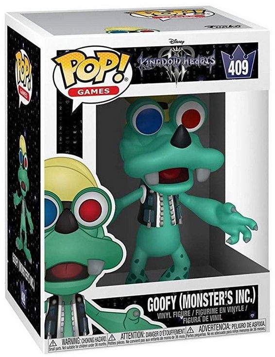 Funko Pop! Games Kingdom Hearts III Goofy Monsters Inc 409