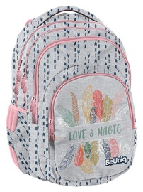 Paso BeUniq Love & Magic School Backpack w/ Pencil Case & Wallet & Shoe Bag Grey