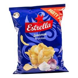 Bulvių traškučiai Estrella, grietinės ir svogūnų skonio, 180 g