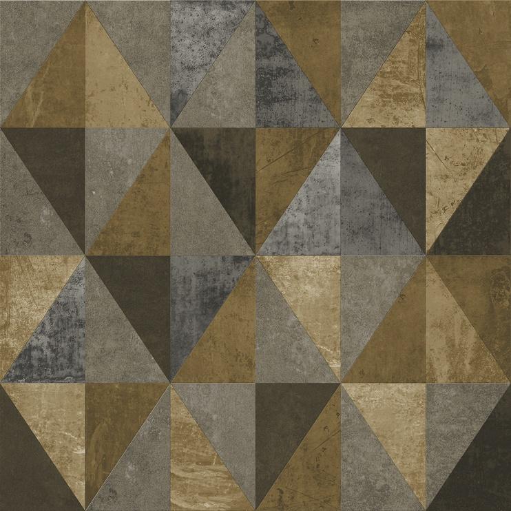 Flizelino pagrindo tapetas Ecodeco EE22566 juodas su auksu, gemetrinės figūros