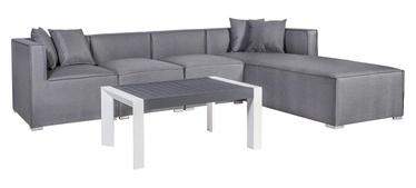 Home4you Rainbow Corner Sofa And Table Set Grey