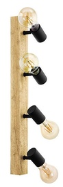Eglo Townshend 3 Spotlight 4x60W E27 Brown/Black