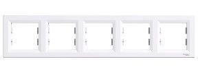 Schneider Electric Asfora Five Way Frame EPH5800521 White