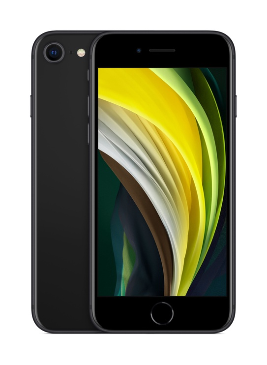 Mobiiltelefon Apple iPhone SE 2020, must, 3GB/256GB