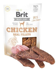 Brit Jerky Chicken Real Fillets skanėstas 80g