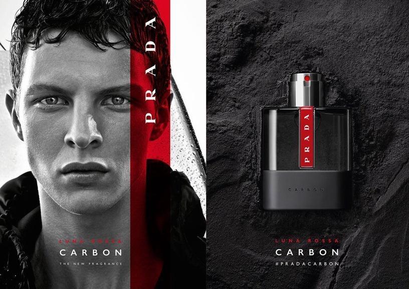 Набор для мужчин Prada Luna Rossa Carbon 50 ml EDT + 100 ml Shower Gel 2018